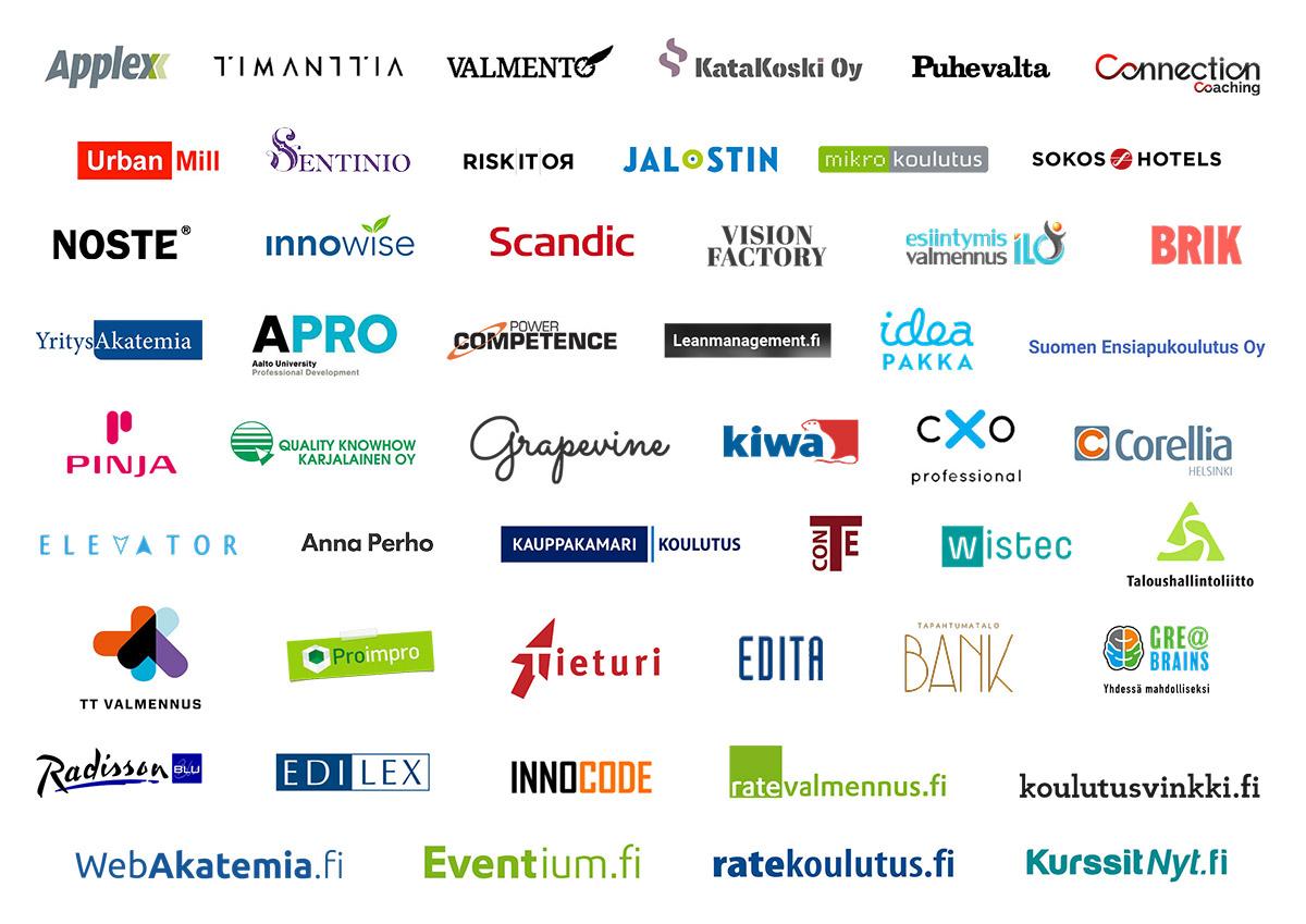 WebAkatemian yhteistyökumppaneita 2020