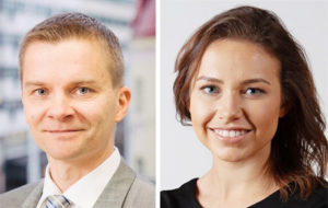 Työlainsäädännön asiantuntijat Petri Nevalainen ja Sofia Toivonen