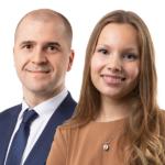 Mika Miesmäki ja Noora-Sofia Kallio, työoikeuden asiantuntijat